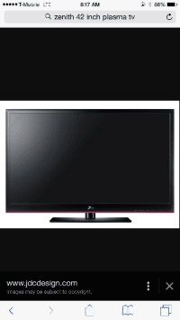 Sell Or Buy A Used 42 Inch Zenith Plasma Tv