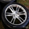 "22"" tires and rims 305/40 22"