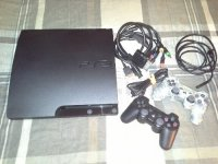 160GB Playstation 3 (Black) With 2 wireless controllers , Electronics, Sony Playstation 3 CECH-3001A, 160GB Playstation 3 ( Black ) in excellent condition with all power cables and connection cables, both HDMI and AV Cables. Also has 2 wireless controllers one is black and the other is Camo colored both in like new condition.