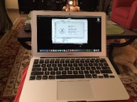 MacBook Air, Electronics, Apple MacBook Air, Model A1465 - 4GB DDR3 mem 121GB SSD, still has remainder of factory warranty