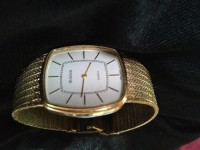 Bulova watch , Luxury Watch, Bulova quartz watch, Gold mesh band, quartz movement, p2 (1982)