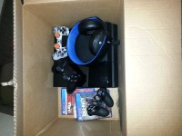 ps4, Other, PlayStation 4 w/ 4 games, 2 controllers, Sony headset