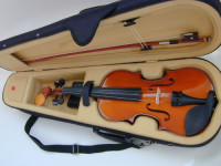 Violin , Musical Instruments, Equipment, Strings, Rosin, chin guard, neck/head rest.