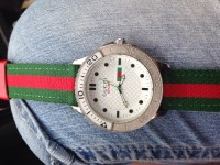Gucci men's sports watch, Luxury Watch, Gucci sports, Men's gucci sports watch stainless steel band green and red