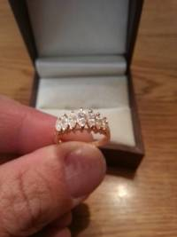 7 Marquise Ring 14ky over 1ct of Diamonds, It has 7 marquise diamonds in it, and over 1 carat of total diamond weight., Like new