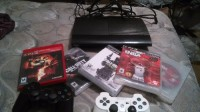 playstation 3, Electronics, sony ps3 CECH-4001B, 2 controllers power cord 5 games hdmi cord. Game is used but in really good condition