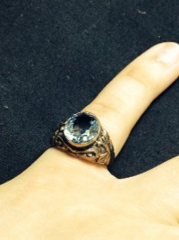 1920s 10k ring with real sapphire, Jewelry, 5.1g, Art Deco 1920's 10k ring  with genuine blue sapphire