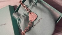 tiffany & co bracelet with heart charm, Jewelry, silver, Tiffany & co. Bracelet, with heart charm has initials 'sal' on charm