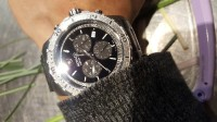 movado watch, Luxury Watch, movado, Silver balcked and very shiny