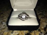 Kay Jewelers Bridal Set, This is a Kay Jewelers bridal set with a total diamond weight of 1.11 carat and 14 carat white gold. Ring size is between 5 and 6., Like new