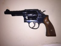 Smith & Wesson Model 10, Gun, Holster, Smith & Wesson Model 10 .38 special. Military and Police edition. Ship date 1948-1952 (serial number make 1951 most likely) in great shape. Collector's Item.