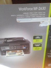printer, Electronics, Epson workforce WF-2630, Brand.New.printer in box. It has fax, copy, print and scan ability. It is also wireless.