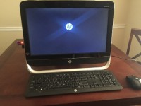 "HP All-In-One Pavilion 20, Electronics, HP Pavillion b-2010 20"", New condition, Keyboard missing letter A"