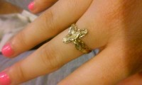 14k Gold Ring, Jewelry, 14k, 1.8 grams 14k gold. Cross with Jesus on it.