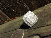 Cocktail Ring, Jewelry, 2+KT/14KT White Gold, Diamond Cocktail Ring bought new 2 years ago.