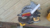 """Dewalt 12"""" double bevel compound miter saw, Tools, Equipment, Bought new in 2015"""