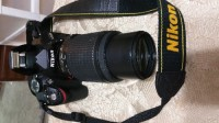 "SLR Camera, Electronics, Nikon D3200, Nikon D3200 AF-S DX SLR 24.1MP with a 3"" Screen. 1920x1080 video recording. Also 2 New 18-55mm & 55-200mm Lens. 16gb sd card, new nikon bag new in the box tripod."