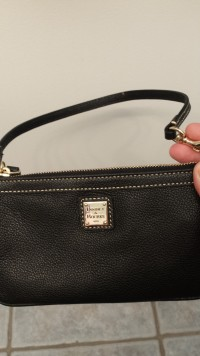 Downey & bourke leather wristlet, Other, Black leather