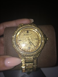 Michael kors glitz watch yellow gold, Mk5720, New, still in box
