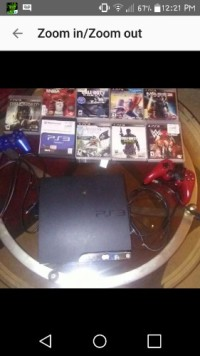 PS3 , Sony, 2015, Its gently used with 10 games and 2 controlles