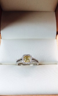 Canary Diamond Ring, ,