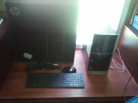desktop, Electronics, hp 500-a60, Tower w/ wireless keyboard and mouse