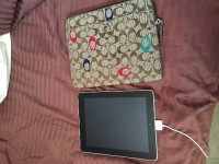 iPad , Electronics, iPad A1219, Very gently used. Wide screen. Coach iPad case to go with it.