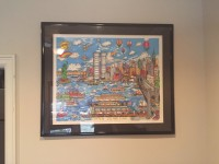 Charles Fazzino Gateway to New York , Other, framed 3D Gateway to New York - about 50""