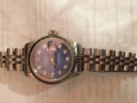 Sodalite Serti Rolex Watch, Luxury Watch, Rolex Solalite Serti, I have the certificate and the box need a 60 day loan