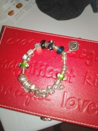 Pandora bracelet with charms, Jewelry, Not sure, Pandora bracelet with charms & spacers.