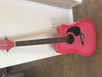 Kona acoustic guitar hot pink , Musical Instruments, Equipment, Kona acoustic guitar