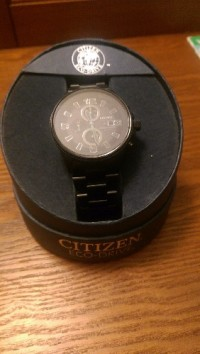 citizens eco-drive NightHawk watch, Luxury Watch, citizen eco-drive NightHawk watch, Only worn it 3 times I had it sized but still have the extra pieces.