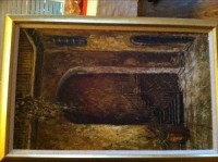 Oil painting, Antique, Collectible, 1971  Royal Street before hurricane Katrina