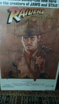 1981 origial Raiders of the Lost Ark poster, Antique, Collectible, purchased in 1981 - in a glass and metal frame