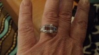 2.5 diamond ring, Jewelry, 2.5 white gikd, Emerald cut with baguettes