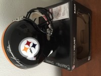 Sports memorabilia , Antique, Collectible, Signed and authenticated Terry Bradshaw replica steelers helmet