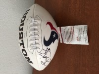 Autographed Brian Cushing Texans football, Antique, Collectible, Autographed Brian Cushing Texans football