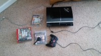 PS3 , Electronics, Fat, It comes with all cords, several games and a working Bluetooth Mic.