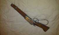 Erby, Antique, Collectible, Shotgun replica with hollister and bullet
