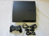 PlayStation 3 160 GB Black, Electronics, PS3, Game console is 160 GB, one controller, power adapter, mini USB charger for controllers and HDMI cable.