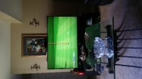 60 inch projector screen tv, Electronics, Mitsubishi, 60 inch screen, small bend in screen on left side.