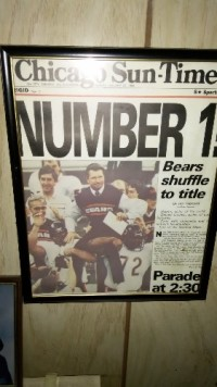 Chicago Bears old newspaper, Antique, Collectible, Old Bears newspaper from their golden days