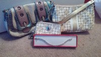 handbags, wallet, jewelry, Other, Coach handbag and wallet, XOXO purse and a beautiful bracelet