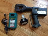 Greenlee Gator ESG45GL Battery Cable Cutter, Tools, Equipment, Greenlee Gator ESG45GL Battery Cable Cutter with Makita 12V battery and Makita DC1411 battery charger. This item is used but still works very good. Battery holds a real good charge and charger works very good as well. Only reason for selling is to come up with money to get a very painful tooth pulled. So any and all offers will be considered! Thanks so much!!!