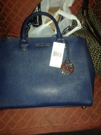 2015 Michael kors purse, Other, 2015 Navy blue and gold large Michael kors purse
