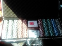 poker chips set , Other, in a brief case - brand new, never used