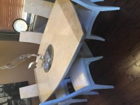 Furniture Fine Dining Room Table, Antique, Collectible, Italia Design fine dining table. All stone. Marquis Collection of Beverly hills We bought the table & chairs for about 9000 total. The chairs retail for 891/each (6 chairs) and the table retailed for 3735