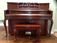 kohler & Campbell upright piano, Musical Instruments, Equipment, Upright Kohler and Campbell Cherry Piano, KM-6475