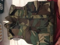 Body armor fragmentation protection vest, Other, Never warn vest size small stock # 8470-01-092-8498