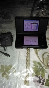 Nintendo Ds lite, Electronics, Nintendo, Black shiny ds lite with stylus and charger